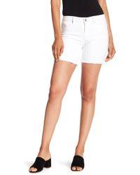 Nanette Lepore - Frayed Hem Mid Rise Shorts - Lyst