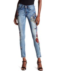 William Rast - Perfect Embroidered Skinny Jeans - Lyst