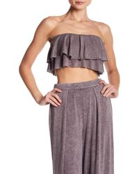 Mustard Seed - Strapless Layered Ruffle Crop Top - Lyst