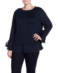 Joe Fresh - Tie Sleeve Blouse (plus Size) - Lyst