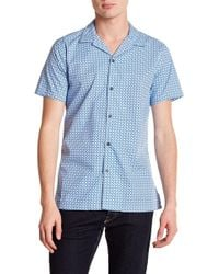 JB Britches - Whirl Short Sleeve Trim Fit Shirt - Lyst