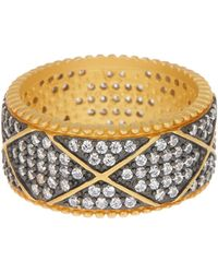 Freida Rothman - Contemporary Deco Pave Eternity Ring - Lyst