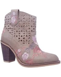 Rebels | Sherry Embroidered Western Bootie | Lyst