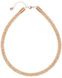Swarovski - Stardust Crystal Filled Mesh Necklace - Lyst