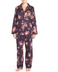 Lauren by Ralph Lauren - Sateen Pyjama Set - Lyst