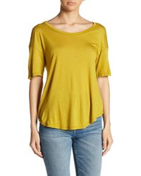 Project Social T - Surplice Back Solid Tee - Lyst