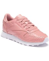 Reebok - Classic Leather Crackle Sneaker - Lyst