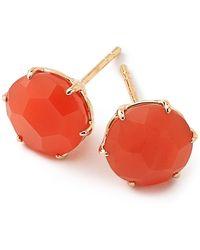 Ippolita - Rock Candy 18k Yellow Gold Prong Set Stone Stud Earrings - Lyst