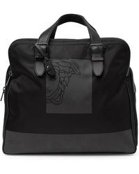 df55dc74808f Lyst - Versace Foldable Nylon   Leather Duffle Bag in Black for Men