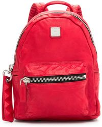 MCM - Small Lush Leather Tumbler Backpack - Lyst