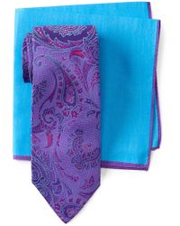 Ted Baker | Lattice Paisley Silk Tie | Lyst