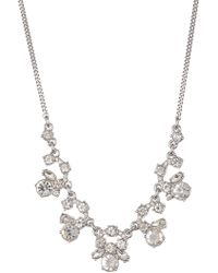 Givenchy - Crystal Cluster Frontal Necklace - Lyst