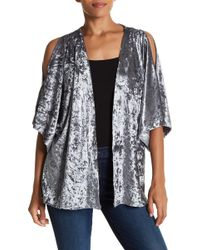 Steve Madden - Crushed Velvet Cold Shoulder Jacket - Lyst