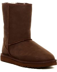 UGG - Classic Short Leather Uggpure(tm) Lined Boot - Lyst