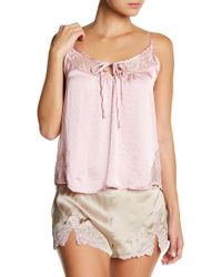 Band Of Gypsies - Lace Inset Swing Cami - Lyst