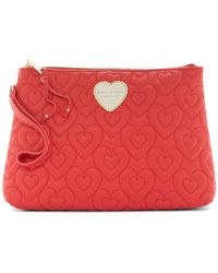 Betsey Johnson - Heart In Heart Quilted Cosmetic Case - Lyst