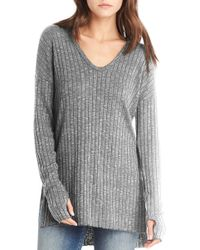 Michael Stars - Side Slit Ribbed Tunic - Lyst