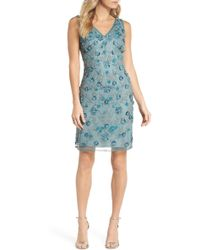 Pisarro Nights - 3d Floral Embellished Sheath Dress (regular & Petite) - Lyst