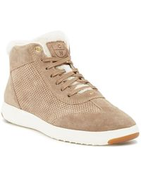 Cole Haan - Grandpro Faux Fur Trimmed Hi Top Sneaker - Lyst