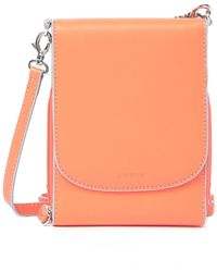 Lodis - Audrey Rfid Reese Crossbody Leather Wallet - Lyst