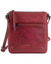 Perlina Judi Leather Crossbody Bag
