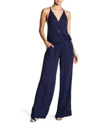 On The Road - Florence Surplice Neck Jumpsuit - Lyst