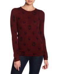 Skull Cashmere - Aubrey Skull Print Cashmere Sweater - Lyst