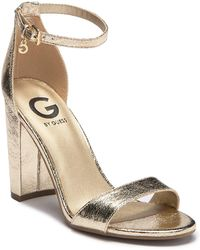 G by Guess - Shantel Ankle Strap Heeled Sandal - Lyst