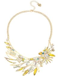 Betsey Johnson - Cockatoo Frontal Necklace - Lyst