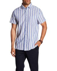 Sovereign Code - Port Short Sleeve Stripe Print Regular Fit Shirt - Lyst