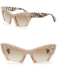 cf8ff0f3f2c1 Miu Miu - Rasoir Rock Collection 50mm Cat Eye Sunglasses - Lyst
