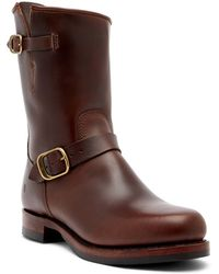 Frye | John Addison Engineer Leather Boot | Lyst
