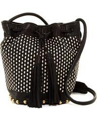 Cynthia Rowley - Calista Woven Mini Drawstring Bucket Bag - Lyst