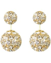 Moon & Lola - Westbury Pave Rhinestone Front & Back Stud Earrings - Lyst