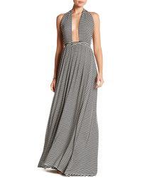 Go Couture - Halter Stripe Maxi Dress - Lyst
