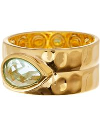 Melinda Maria - Ryan Teardrop Stone Hammered Band Ring - Size 7 - Lyst