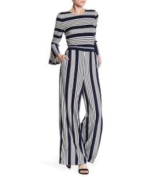 Eci - Mixed Stripe Bell Sleeve Jumpsuit - Lyst