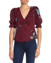 Joie - Anevy Floral Silk Blouse - Lyst