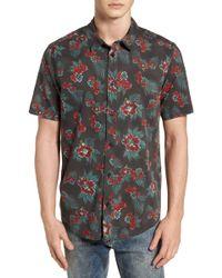 RVCA - Mcmillan Floral Woven Shirt - Lyst