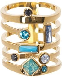 Botkier - Crystal Detail Cage Ring - Size 7 - Lyst
