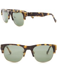 William Rast - Men's 53mm Polarized Clubmaster Sunglasses - Lyst