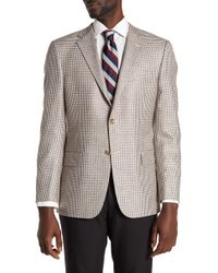 Hickey Freeman - Brown Check Two Button Notch Lapel Sport Coat - Lyst
