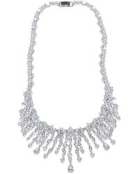 CZ by Kenneth Jay Lane - Cz Statement Multi Cluster Necklace - Lyst