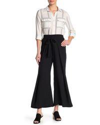 Blu Pepper - Tie Waist Wide Leg Pants - Lyst