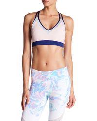 DSGN Yoga - Colorblock Mesh Sports Bra - Lyst