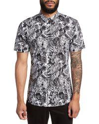 BOSS - Empson Trim Fit Print Short Sleeve Sport Shirt - Lyst