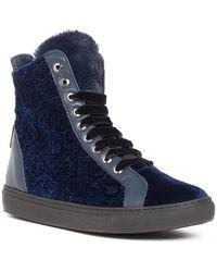 Baldinini - Contrast Panel Genuine Fur Sneaker - Lyst