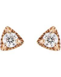 Bony Levy - 18k Rose Gold Triangle Diamond Stud Earrings - 0.07 Ctw - Lyst