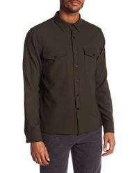 Vince - Military Long Sleeve Trim Fit Shirt - Lyst
