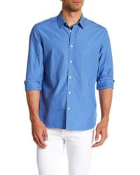Calvin Klein - Solid Woven Shirt - Lyst